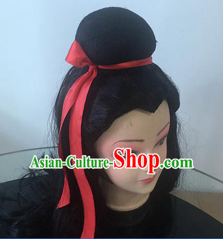 Chinese Beijing Opera Niche Headgear Traditional Peking Opera Scholar Wig Sheath for Men
