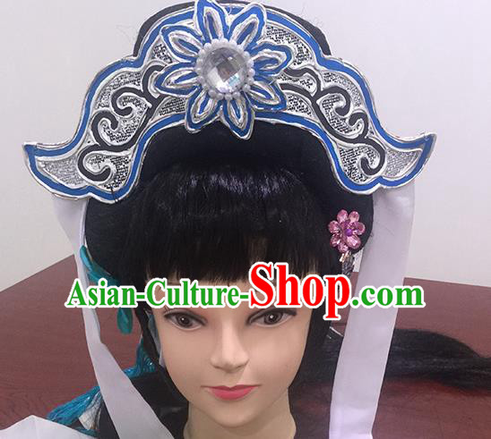 Chinese Beijing Opera Headgear Traditional Peking Opera Taoist Nun Wig Sheath and Hair Accessories for Women