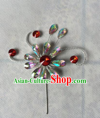 Chinese Beijing Opera Diva Crystal Hairpins Traditional Peking Opera Hair Accessories for Women