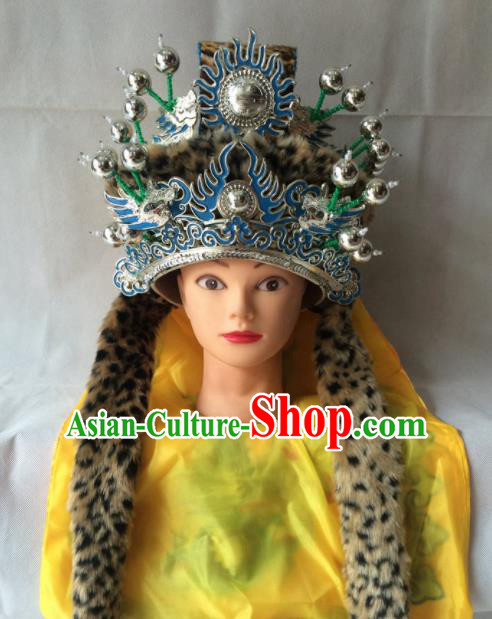 Chinese Beijing Opera Emperor Hat Traditional Peking Opera Imperator Headwear for Men