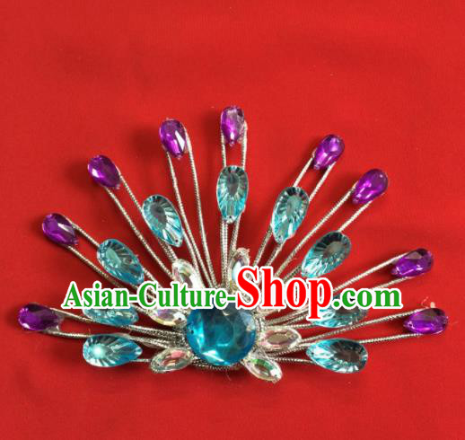 Chinese Beijing Opera Actress Hair Claw Traditional Peking Opera Princess Hair Accessories for Women