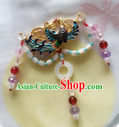 Chinese Ancient Princess Blueing Bird Necklace Traditional Court Lady Jewelry Accessories for Women