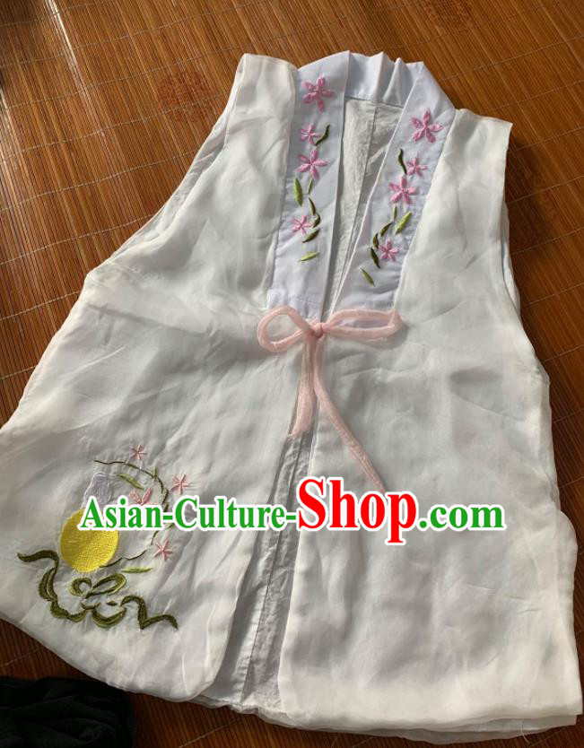 Chinese Ancient Nobility Lady White Vest Traditional Ming Dynasty Princess Costume for Women