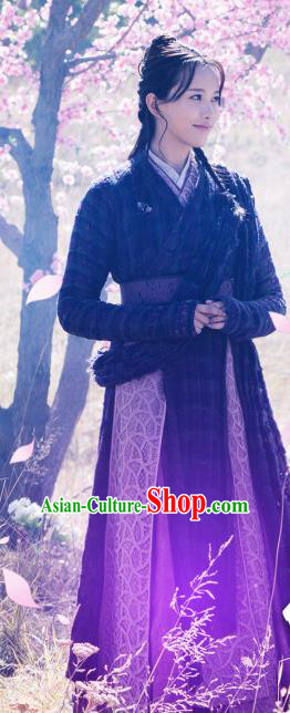 Ancient Chinese Drama Female Swordsman Ever Night Traditional Tang Dynasty Knight Costumes for Women