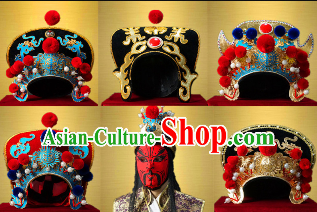 Top Handmade Long Beards Bian Lian Hat Mask Changing Hat