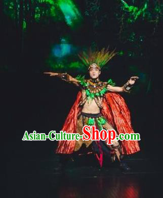 Chinese The Romantic Show of Songcheng Liangzhu Culture Stage Performance Donald Dance Costume for Men