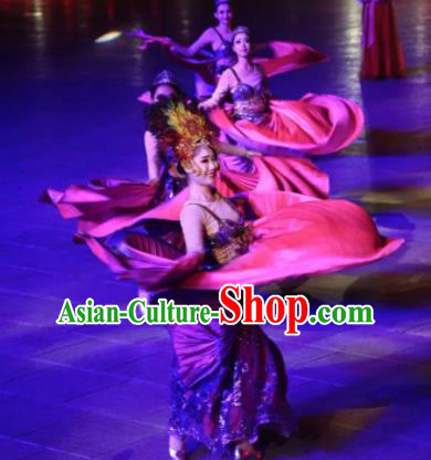 Chinese The Dream of Datang Tang Dynasty Dance Dress Stage Performance Costume for Women