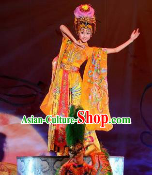 Chinese The Dream of Datang Tang Dynasty Imperial Consort Dance Dress Stage Performance Costume for Women