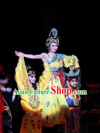 Chinese The Long Regret Tang Dynasty Consort Yang and Xuan Emperor Stage Show Costumes for Women for Men