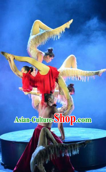 Chinese Dynamic Huangshan Stage Performance Dance Costumes for Women for Men