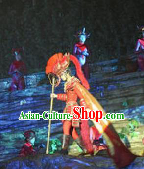 Chinese The Love Story Of A Woodman And A Fairy Fox General Stage Performance Folk Dance Costume for Men