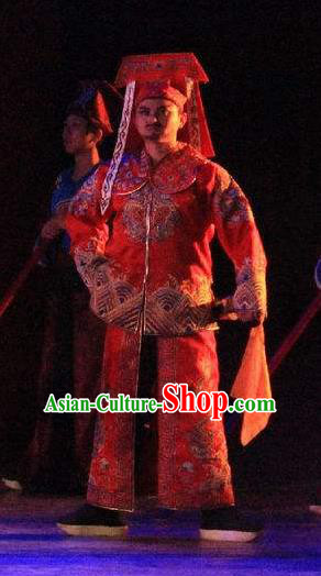Chinese Back to Song Dynasty Imperial Bodyguard Stage Performance Dance Costume for Men
