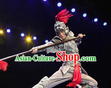 Chinese Back to Song Dynasty General Body Armor Stage Performance Dance Costume for Men