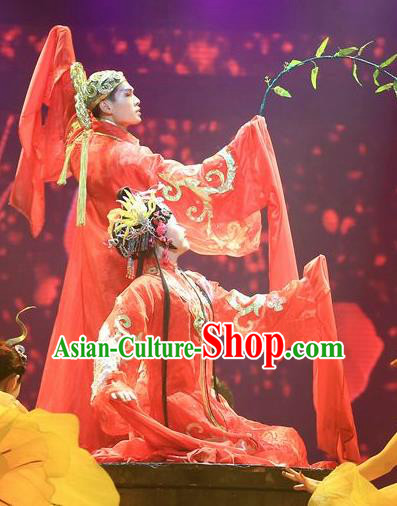 Chinese Magic Ganpo Peking Opera Wedding Bride and Bridegroom Stage Performance Dance Costumes for Women for Men