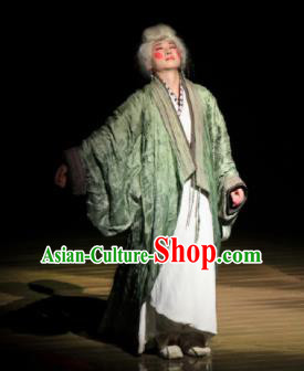 Chinese The Legend of Zhugeliang Three Kingdoms Period Dowager Countess Hanfu Dress Stage Performance Costume for Women