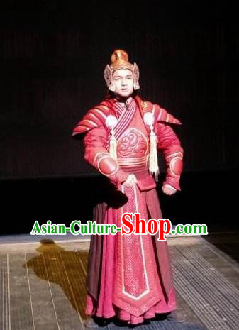 Chinese Encore Dunhuang Tang Dynasty General Armor Stage Performance Dance Costume for Men