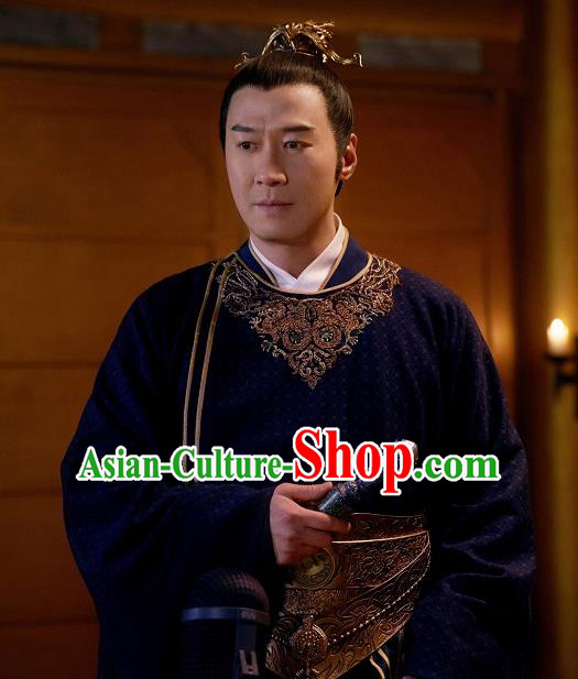 Ever Night Chinese Drama Ancient Emperor Hanfu Clothing Traditional Tang Dynasty Monarch Costumes for Men