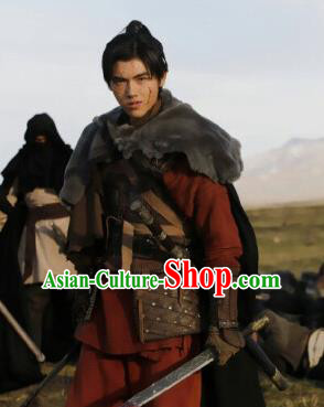 Ever Night Chinese Drama Ancient General Ning Que Hanfu Clothing Traditional Tang Dynasty Swordsman Costumes for Men