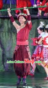 Chinese Phoenix Timeless Love Miao Nationality Clothing Stage Performance Dance Costume for Men