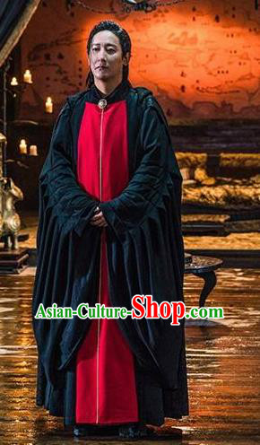 Ever Night Chinese Drama Ancient Priest Swordsman Cheng Lixue Costumes for Men