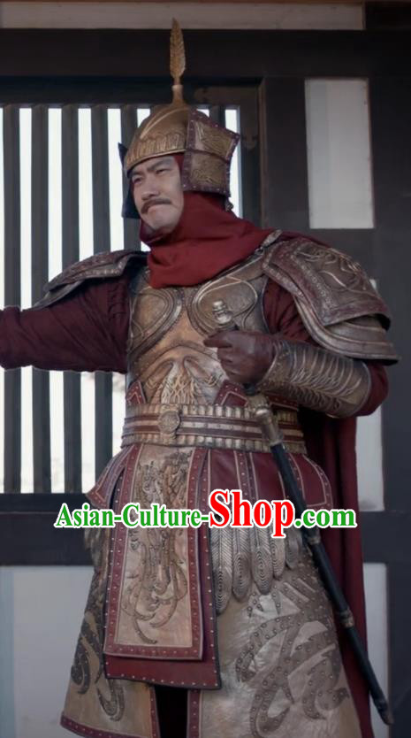 Ever Night Chinese Drama Ancient Tang Dynasty General Body Armor Swordsman Costumes for Men