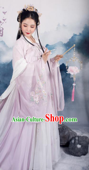 Traditional Chinese Tang Dynasty Royal Infanta Replica Costumes Ancient Court Princess Hanfu Dress for Women