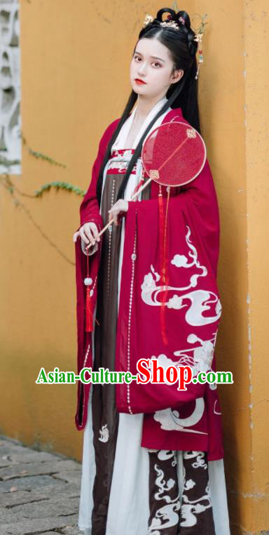 Traditional Chinese Tang Dynasty Nobility Lady Replica Costumes Ancient Imperial Concubine Hanfu Dress for Women