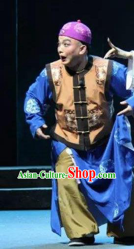 Xu Tietang Traditional Chinese Qin Opera Qing Dynasty Nobility Childe Stage Performance Costumes and Headwear for Men