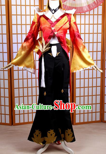 Traditional Chinese Cosplay Female Swordsman Dress Ancient Heroine Costume for Women