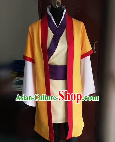 Traditional Chinese Cosplay Livehand Clothing Ancient Swordsman Costume for Men