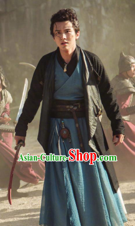 Ancient Chinese Song Dynasty Young Hero Hanfu Clothing Drama Young Blood Civilian Swordsman Costumes for Men