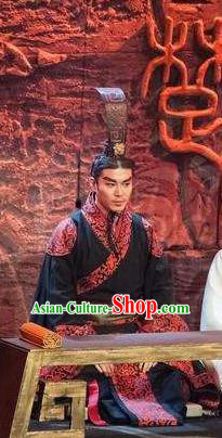 Chinese Drama Shang Yang Qin Dynasty King Clothing Stage Performance Dance Costume for Men