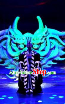 Chinese Drama Dragon Boat Festival Taoist Priest Clothing Stage Performance Dance Costume for Men