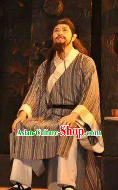 Chinese Drama Yuan Qu Civilian Clothing Stage Performance Dance Costume for Men