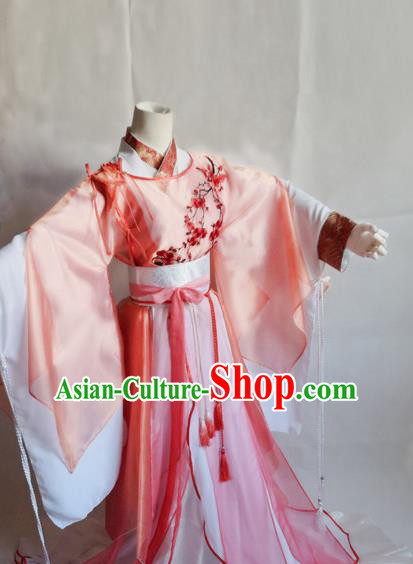 Traditional Chinese Cosplay Swordswoman Song Ning Dress Ancient Royal Princess Costume for Women