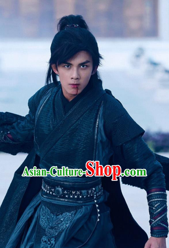 Drama Fights Break Sphere Ancient Chinese Civilian Swordsman Xiao Yan Wu Lei Costumes for Men