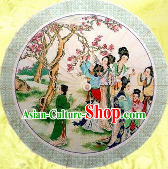 Chinese Handmade Printing Beauty Oil Paper Umbrella Traditional Decoration Umbrellas