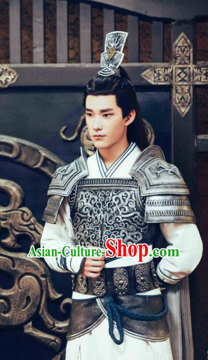 Ancient Chinese General Body Armour Drama Jia Feng Xu Huang Swordsman Xie Qingyun Costumes for Men