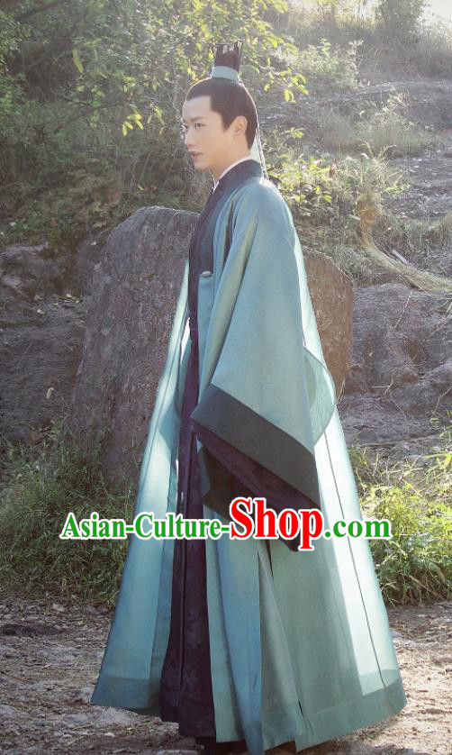 Chinese Ancient Taoist Clothing Drama Love and Destiny Swordsman Si Ming Costumes for Men