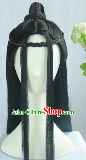 Traditional Chinese Cosplay Jin Dynasty Court Lady Wigs Sheath Ancient Flying Apsaras Chignon for Women