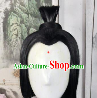 Traditional Chinese Cosplay Taoist Nun Wigs Sheath Ancient Swordsman Goddess Chignon for Women