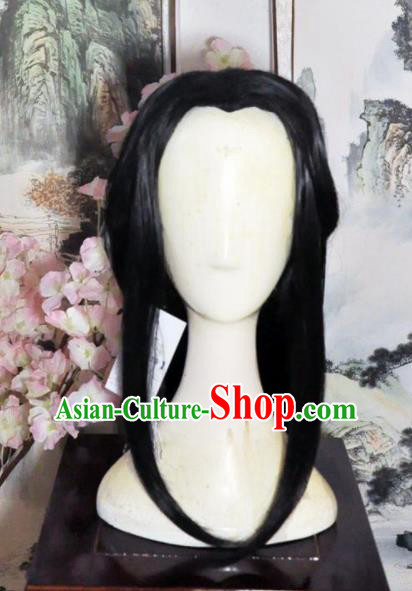 Traditional Chinese Cosplay Swordsman Taoist Nun Wigs Sheath Ancient Goddess Chignon for Women