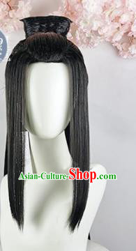 Traditional Chinese Cosplay Swordsman Xiu Jie Princess Wigs Sheath Ancient Goddess Chignon for Women
