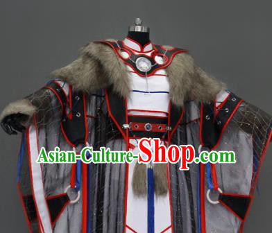 Chinese Traditional Cosplay King Costumes Ancient Swordsman Clothing for Men