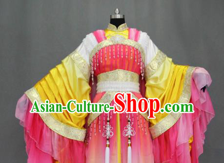 Traditional Chinese Cosplay Court Princess Pink Dress Ancient Drama Female Swordsman Costumes for Women