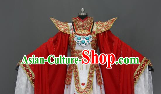 Customize Chinese Traditional Cosplay Nobility Childe Wedding Red Costumes Ancient Swordsman Clothing for Men