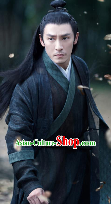 Drama Love and Destiny Chinese Ancient Swordsman War God Jiu Chen Chang Chen Replica Costumes for Men