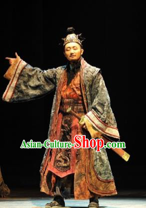 Chinese Drama Fu Sheng Ancient Qin Dynasty Chancellor Clothing Stage Performance Dance Costume for Men