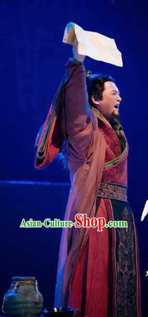 Chinese Drama Guangling Verse Ancient Jin Dynasty King Clothing Stage Performance Dance Costume for Men