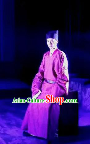 Chinese Drama Huating Song of Song Dynasty Ancient Scholar Clothing Stage Performance Dance Costume for Men